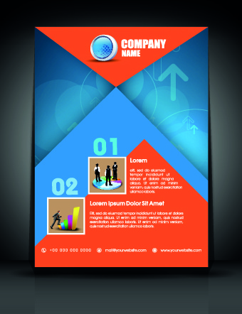 Exquisite business flyer template free vector in encapsulated exquisite business flyer template wajeb Gallery