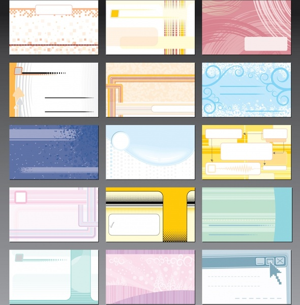 card templates collection modern abstract decor