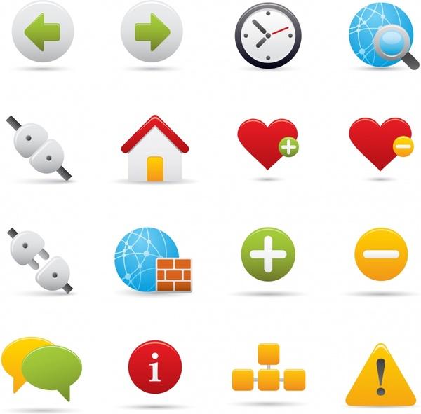 exquisite cartoon icon button vector
