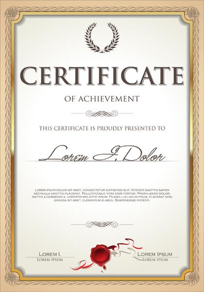 illustrator certificate template - certificate frame vector free vector download 6 432 free
