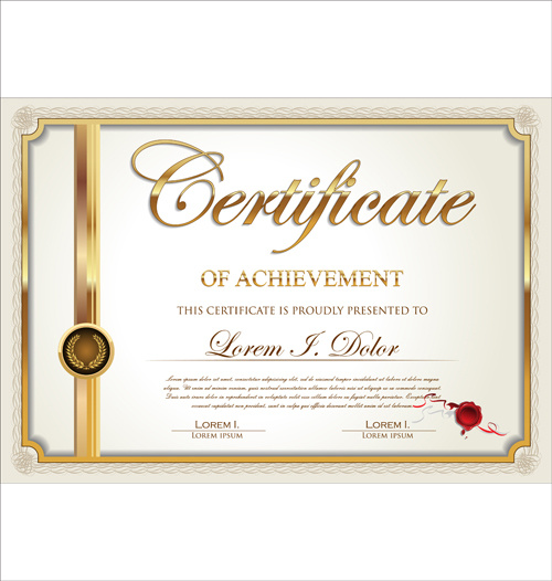 Exquisite certificate frames with template vector Free vector in ...