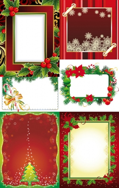 Exquisite christmas photo frame vector Free vector in Encapsulated ...