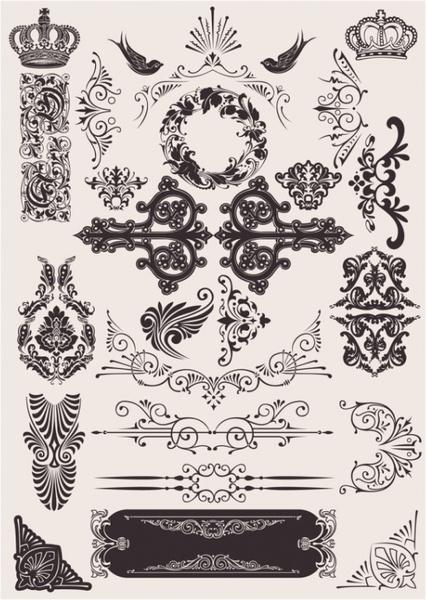 exquisite decorative pattern background 03 vector