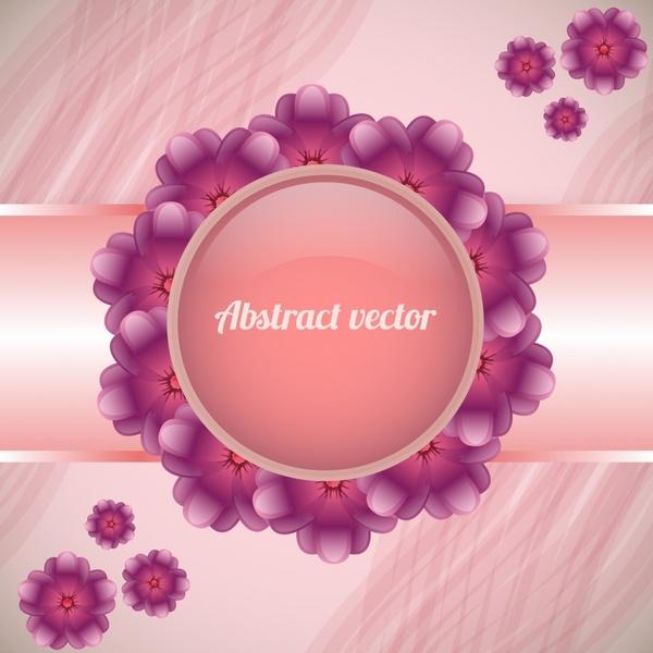 decorative floral background elegant shiny violet petals layout