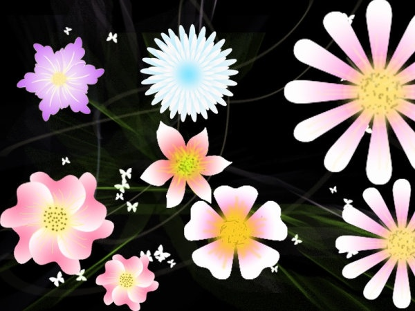 exquisite flowers vector