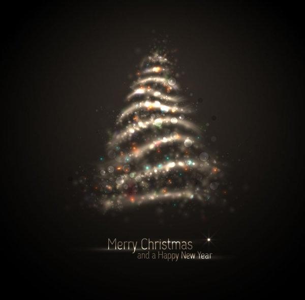 exquisite halo christmas tree 04 vector