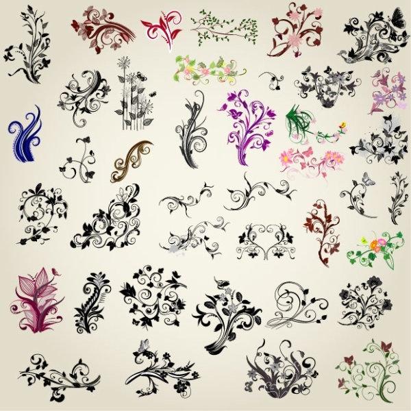 exquisite handpainted pattern 01 vector