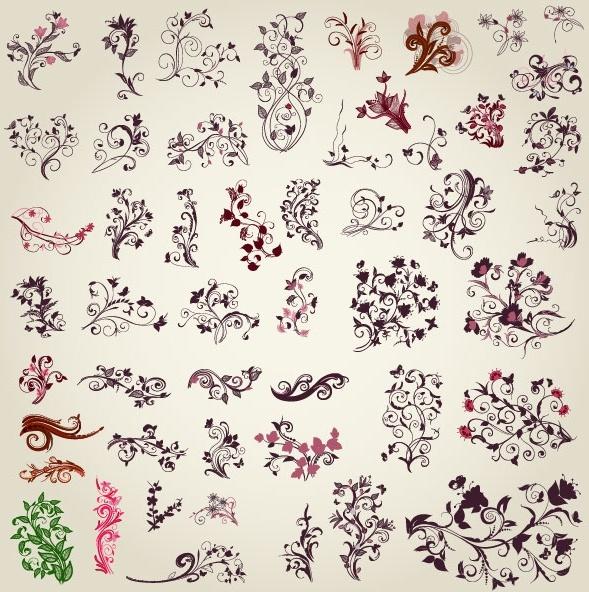 exquisite handpainted pattern 02 vector