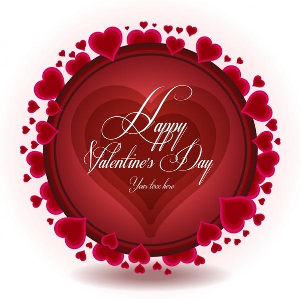 exquisite heartshaped valentine background vector