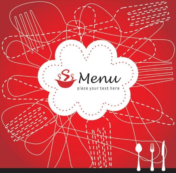 exquisite menu cover 01 vector