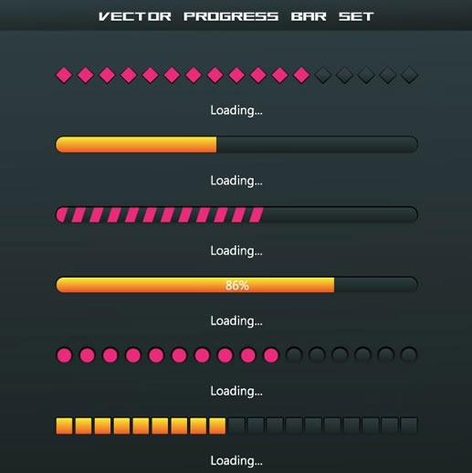 exquisite progress bar load vector
