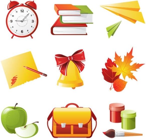 exquisite school supplies 04 vector