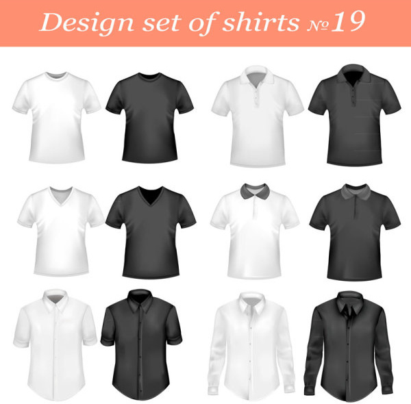 exquisite t shirt template free vector