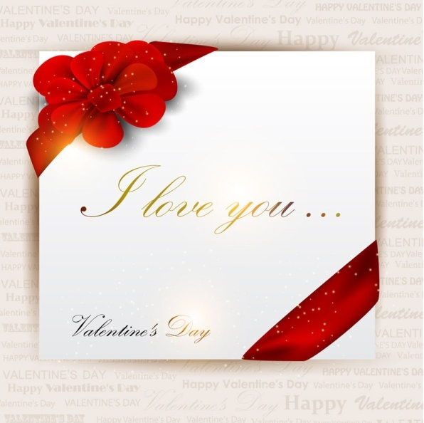 Exquisite valentine39s day greeting card vector Free vector in ...