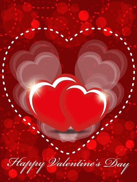 exquisite valentine background 05 vector