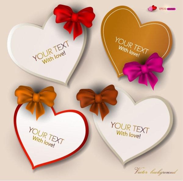 exquisite valentine labels 01 vector