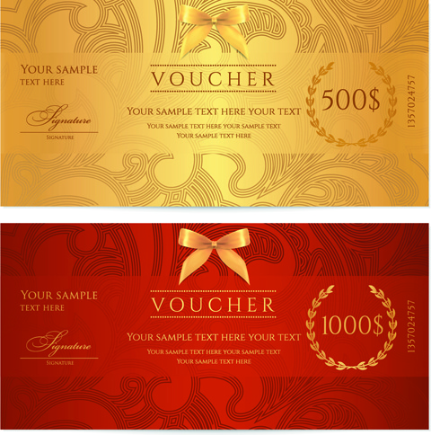 Vector voucher design free vector download (131 Free ...