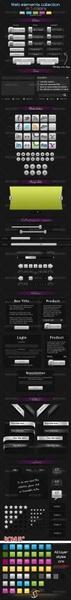 exquisite web 20 web design decorative psd including asl
