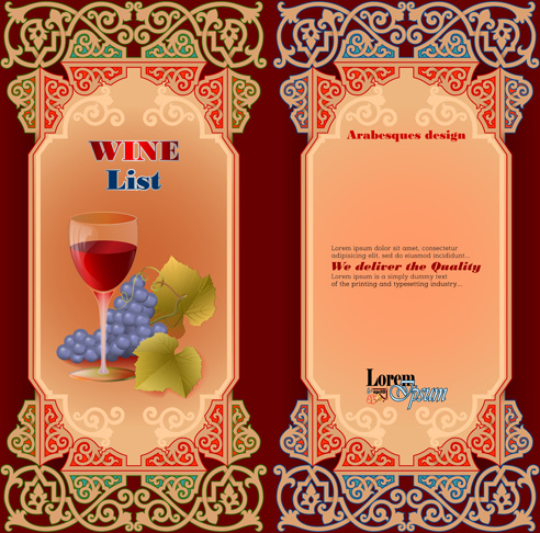 exquisite wine labels template vector design