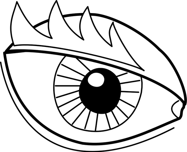 Eye Oeil Free Vector In Open Office Drawing Svg Svg Vector