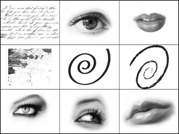 eyes and lips brush