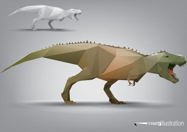 facade body animal model tyrannosaurus rex vector