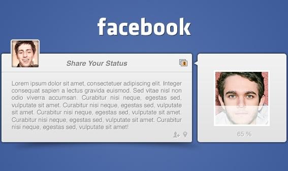 Facebook Post UI PSD