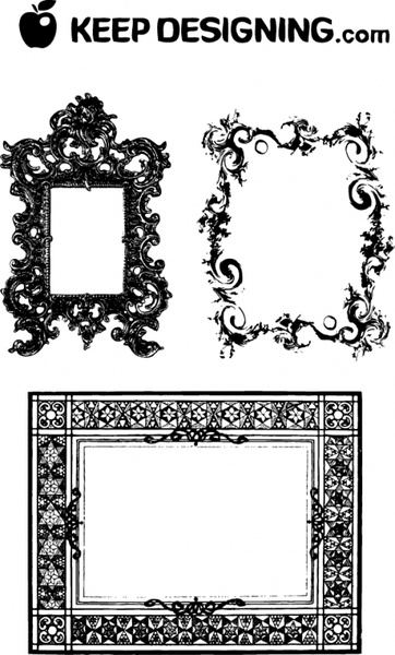 Fancy Frames & Ornate Borders Free vector in Encapsulated PostScript ...