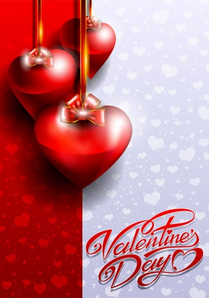 fancy valentine39s day greeting card 03 vector