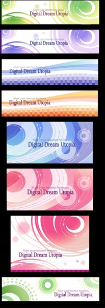 abstract background sets multicolored curves decor