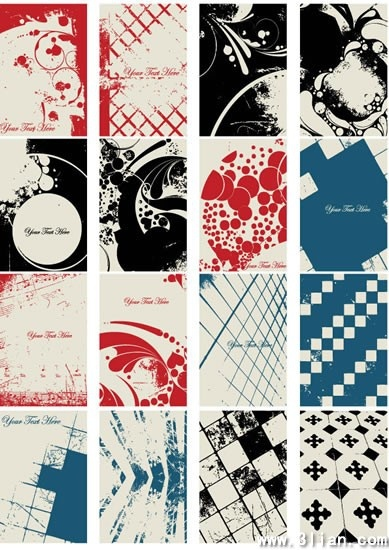 abstract background templates colored retro grunge decor