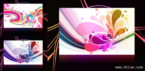 decorative background templates colorful abstract dynamic decor