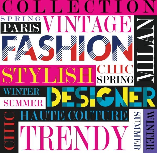 fashion banner colorful texts decor vertical horizontal design