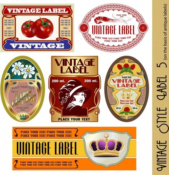 label templates food floral fashion themes vintage design