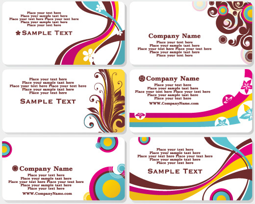jumbo postcard template - fashion design business cards free vector download 26 591