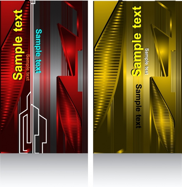 abstract technology background template shiny red yellow decor