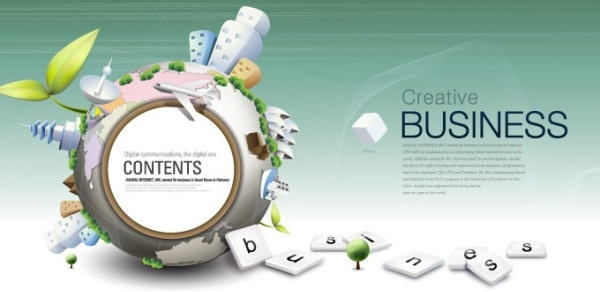 fashion concept of environmental protection global business background design vector 1