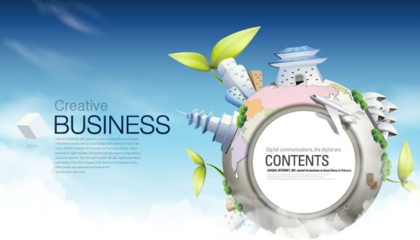 fashion concept of environmental protection global business background design vector 3