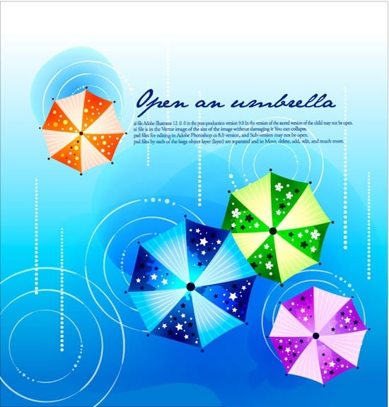 Fashion Design Background Vector Printed Umbrellas 2 Free Vector In Adobe Illustrator Ai Ai Vector Illustration Graphic Art Design Format Format For Free Download 1 58mb