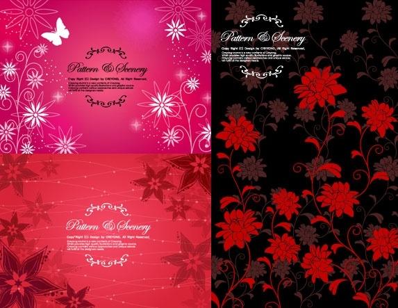 fashion flower pattern background vector