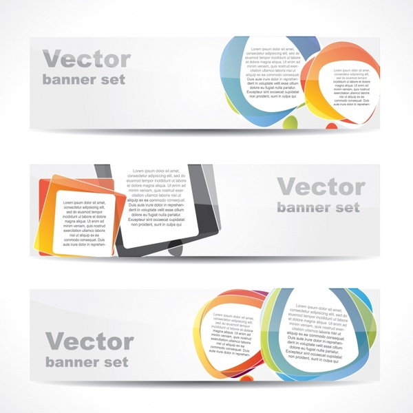 decorative banner templates modern blurred colorful horizontal design