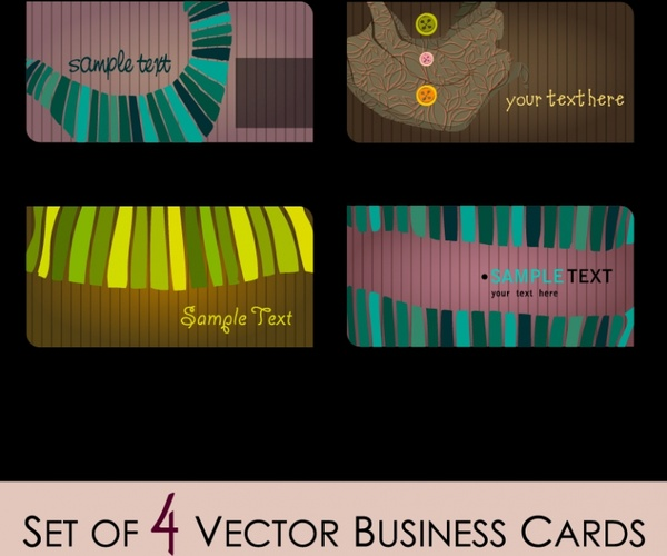 business card cover templates dark classical abstract decor