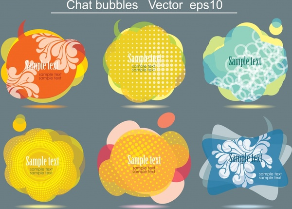 bubbles templates colorful classical flat shapes
