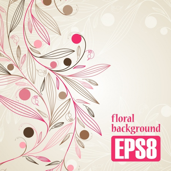 floral background template flat handdrawn sketch