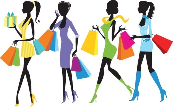fashion shopping girls clip art free vector download 216 114 free rh all free download com woman grocery shopping clipart