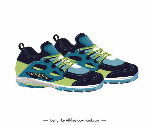 fashion sneakers icon modern colorful young decor