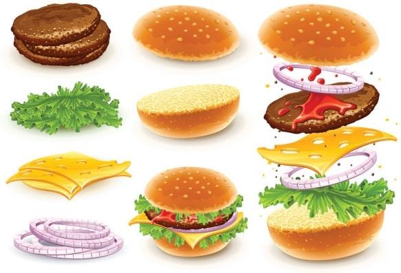 fast food 01 vector