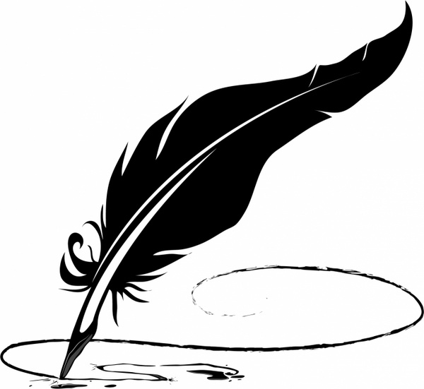Feather pen Free vector in Adobe Illustrator ai ( .AI ), Encapsulated  PostScript eps ( .EPS ) format for free download 852.46KB