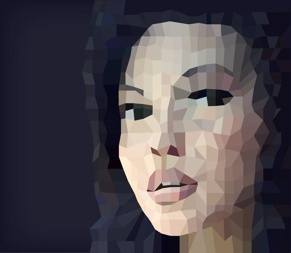 Abstract Face Art Vector