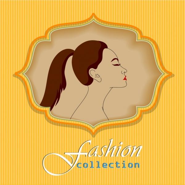 female fashion background woman face colored classical decor